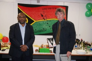 The Vanuatu Hogh Commissioner and Mr. Bob Field.